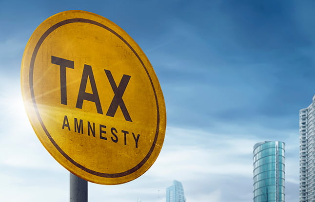 tax amnesty sign