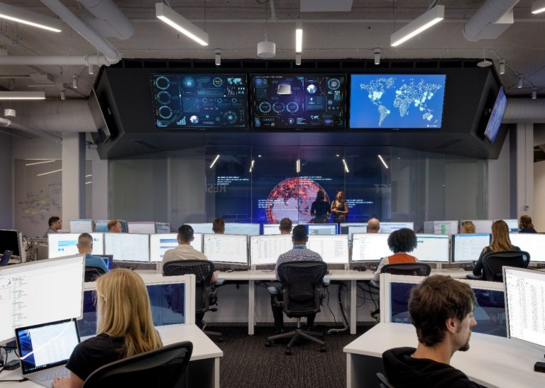 Microsoft Cyber Defense Operations Center operates 24×7 to defend against cyberthreats