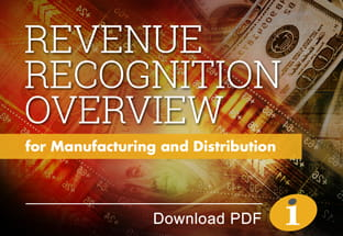 Revenue Recognition Services for Manufacturing and Distribution