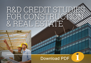Research and Development Credit Studies for Construction and Real Estate Companies