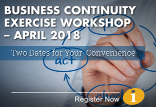 Business Continuity Exercise Workshop - April 2018