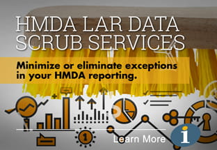 MDA LAR Data Scrub Services - Minimize or eliminate exceptions in your HDMA reporting. Click to learn more.