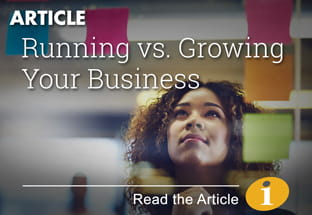 Article - Running vs Growing Your Business.