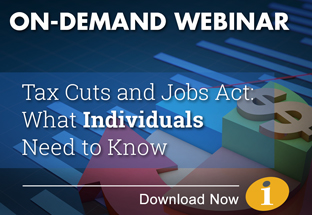 On Demand Webinar: Tax reform for individuals