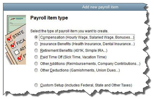 Add Payroll Items