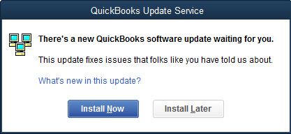 QuickBooks Update Service notification