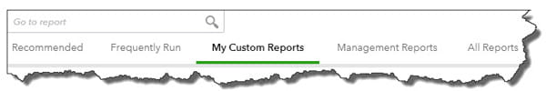 The Reports page toolbar