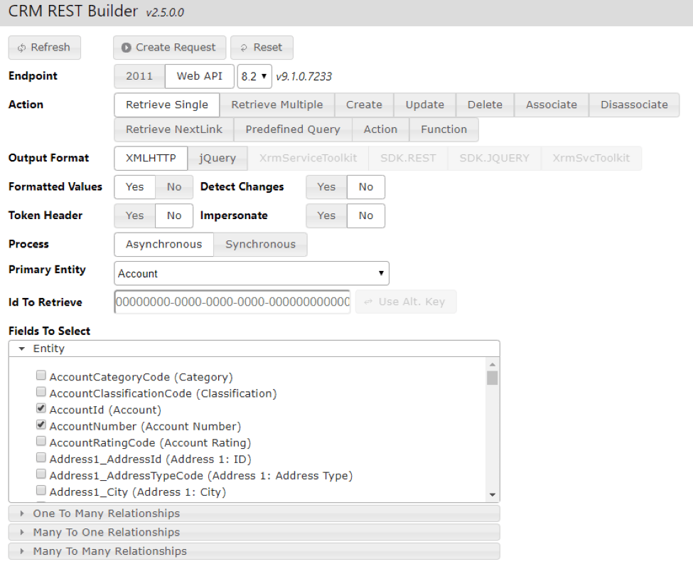 CRM Rest Builder: A useful tool for working with CRM 2016's Web API