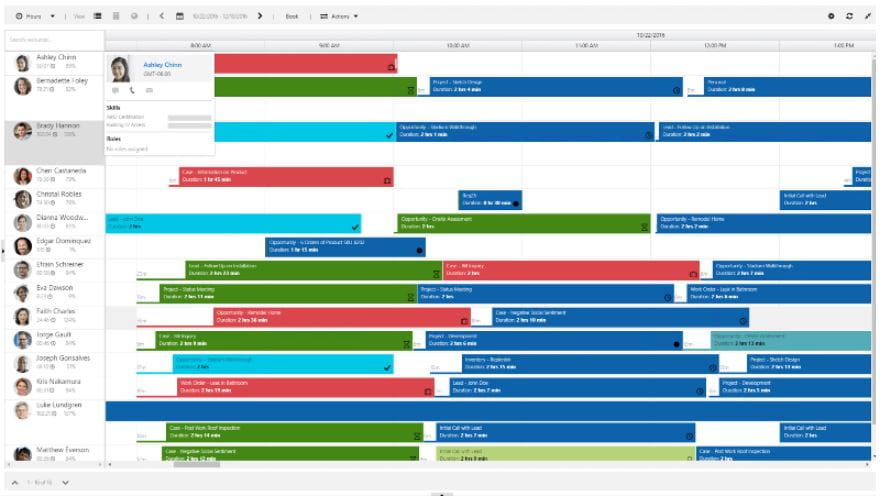 Dynamics 365, Resource Scheduling/Project Service Automation