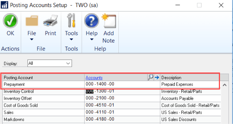 Microsoft Dynamics GP: How to make purchase order prepayments