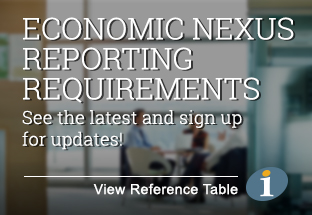 Economic Nexus Reporting Requirements