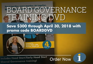 Board Governance Training DVD promotion